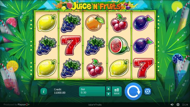 игровой автомат Juice 'N' Fruits 1