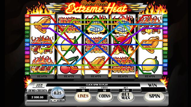 онлайн аппарат Retro Reels Extreme Heat 2