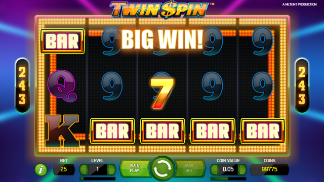 популярный слот Twin Spin 7