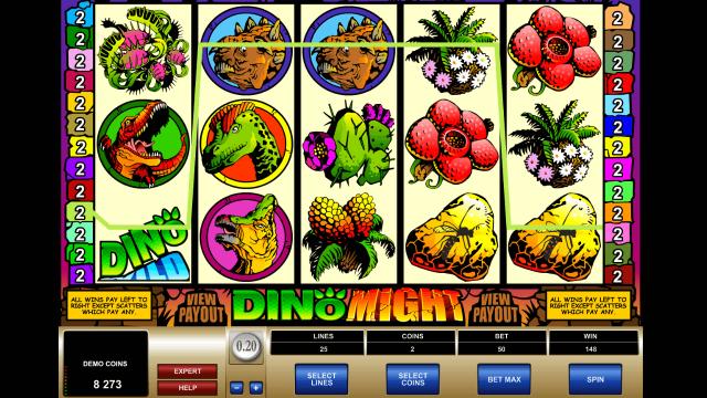 игровой автомат Dino Might 4
