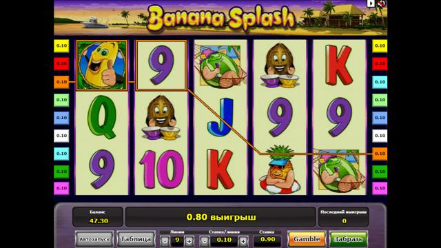 игровой автомат Banana Splash 4