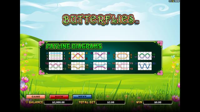онлайн аппарат Butterflies 5