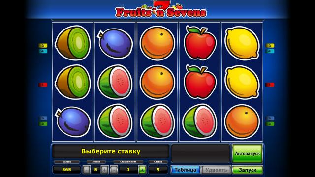 онлайн аппарат Fruits' N Sevens 10