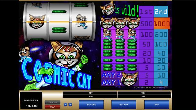 игровой автомат Cosmic Cat 10