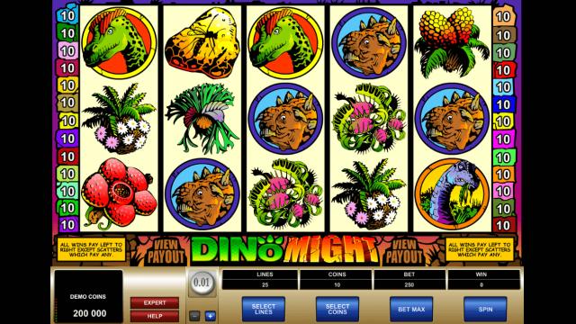 игровой автомат Dino Might 1