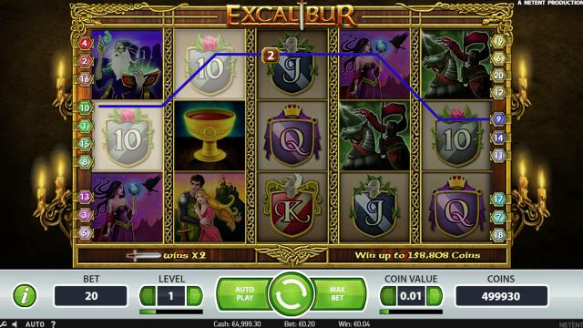игровой автомат Excalibur 5
