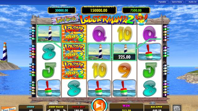 игровой автомат Lucky Larry's Lobstermania 2 20