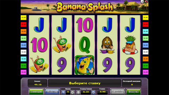 онлайн аппарат Banana Splash 2