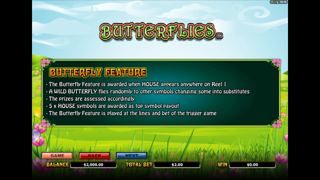 игровой автомат Butterflies 3