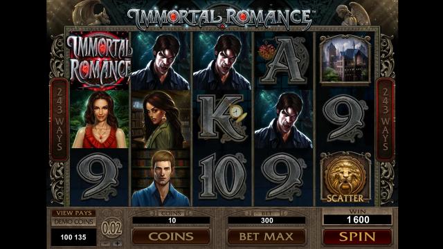 игровой автомат Immortal Romance 7