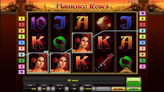 игровой автомат Flamenco Roses 10
