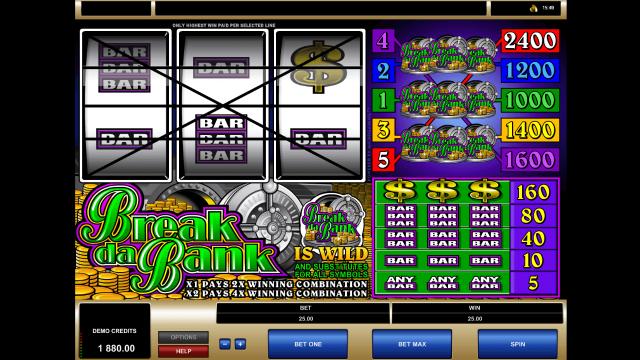 игровой автомат Break Da Bank 9