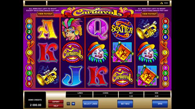 онлайн аппарат Carnaval 1