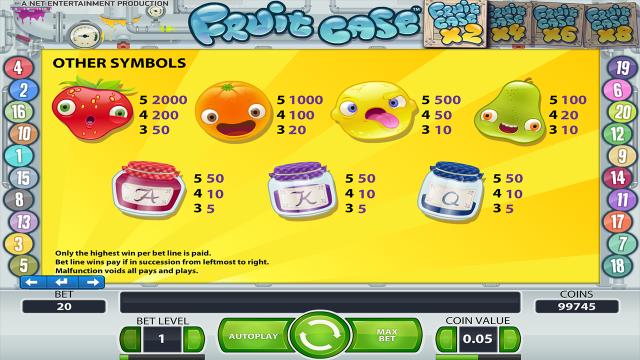 игровой автомат Fruit Case 4