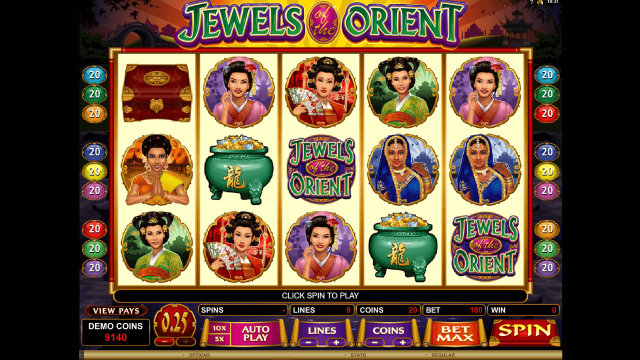 популярный слот Jewels Of The Orient 10