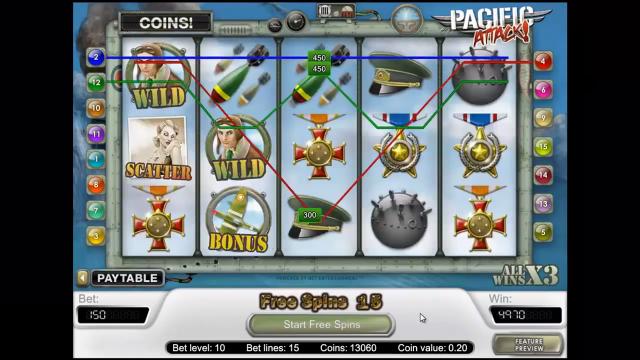 игровой автомат Pacific Attack 7