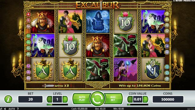 популярный слот Excalibur 10
