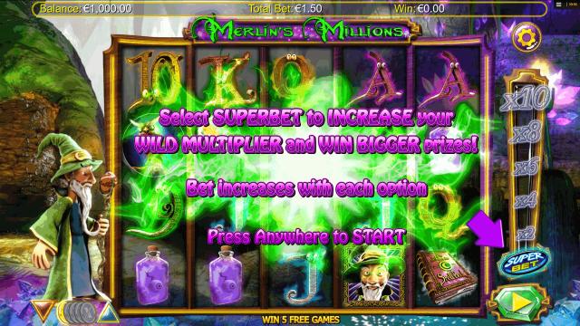 популярный слот Merlin's Millions 1