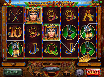 онлайн аппарат Riches Of Cleopatra 2